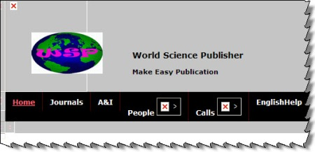 World Science Publisher -- a selected snip from its homepage