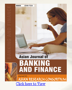 The cover of the Asian Journal of Banking and Finance.