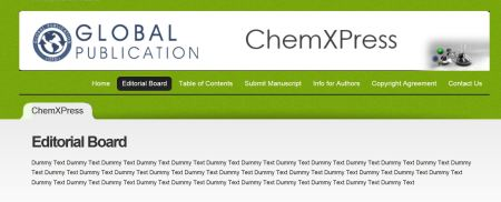 The ChemXpress Editorial Board
