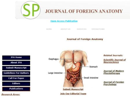 The Journal of Foreign Anatomy