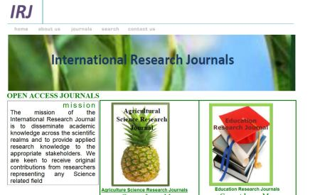 International Research Journals (Accra, Ghana)
