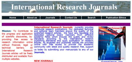 International Research Journals (Lagos, Nigeria)