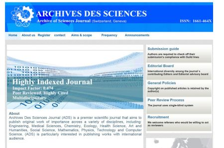 Archives des Sciences