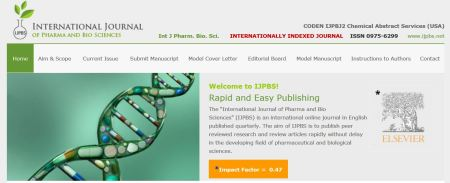 International Journal of Pharma and Bio Sciences