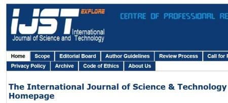 International Journal of Science and Technology