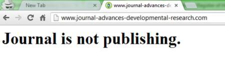 No longer publishing, no longer any content.