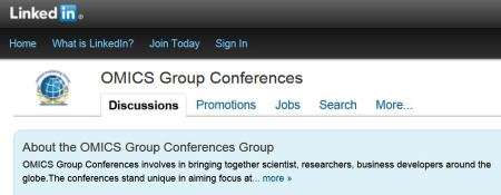 OMICS Group's presence on LinkedIn