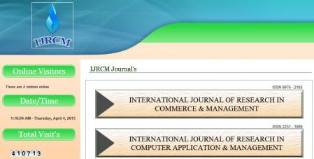 IJCRM means International Journal of Research in Commerce & Management
