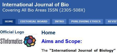 International Journal of Biology