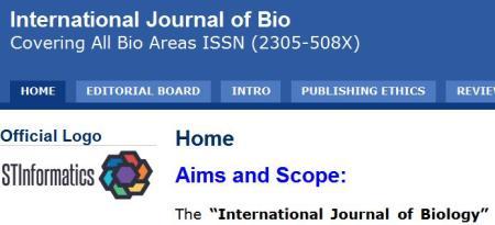 International Journal of Biology