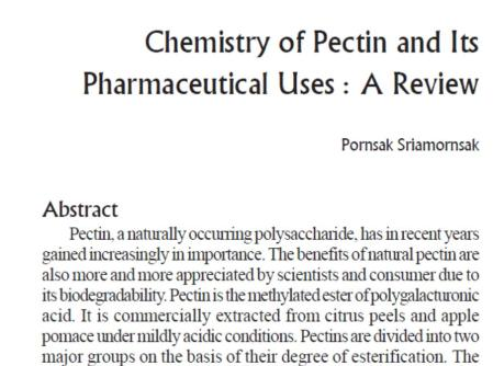 Pectin scholarly article