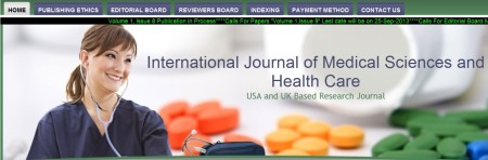 International Journal Of Medical Sciences and Health Care