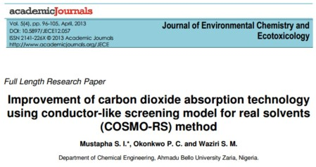 Improvement of carbon dioxide absorption technology