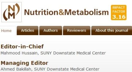 BioMed Central Journal Nutrition & Metabolism