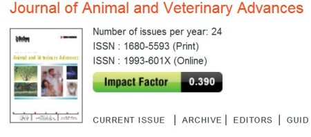 Journal of Animal and Veterinary Advances