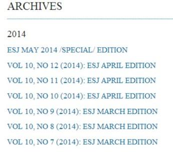 European Science Journal