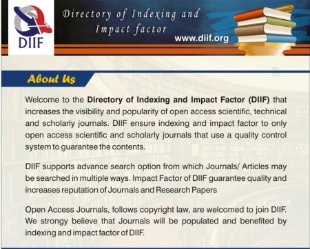 Directory of Indexing and Impact Factor