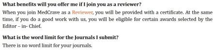 MedCrave FAQ blunders