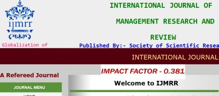 International Journal of Management Research and Review