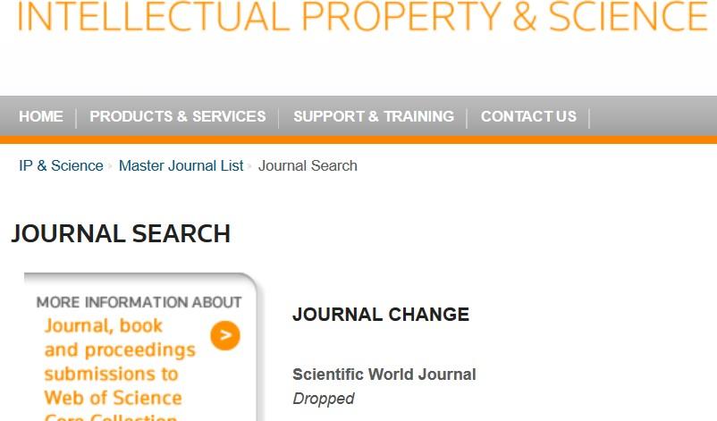 Scientific journals impact factor list 2014