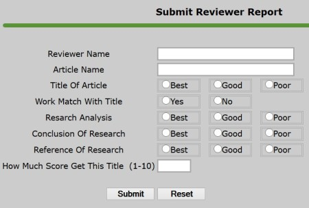 Submit Reviewer Report