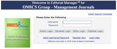 Editorial manager for OMICS Group