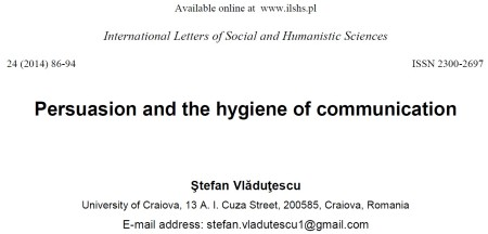 Persuasion and the hygiene of communication