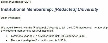 More spam from MDPI.