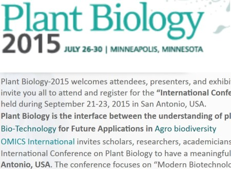 Plant Biology-2015