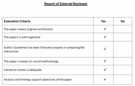 Fake peer review matrix.