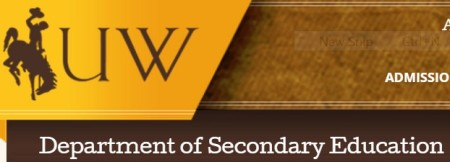 University of Wyoming Department of Secondary Education