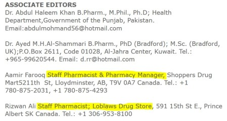 Part-time pharmacy clerks and scholarly journal editors.