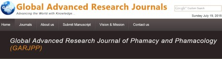 Global Advanced Research Journal of Phamacy and Phamacology