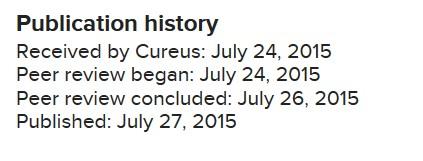 Cureus Publication History