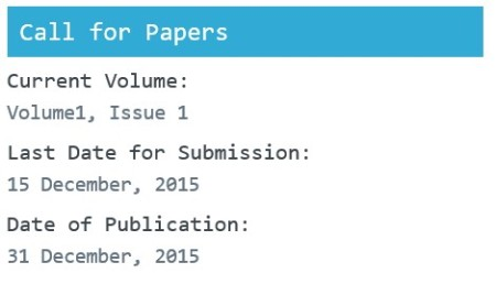 Call for papers December 2015