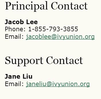 Ivy Union Publishing contact