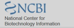 The logo for NCBI, the National Center for Biotechnology Information.