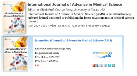 International Journal of Advance in Medical Science