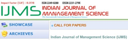 Indian Journal of Management Science