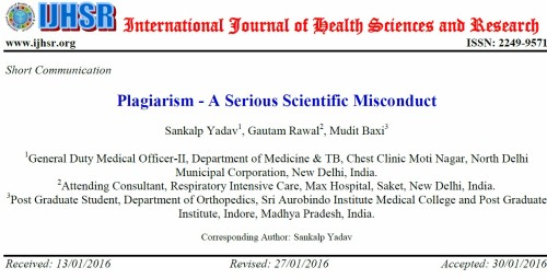 International Journal of Health Sciences and Research 1