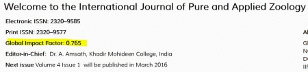 International Journal of Pure and Applied Zoology