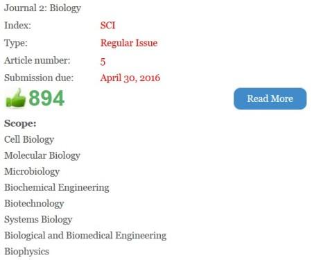 Their biology journal option.