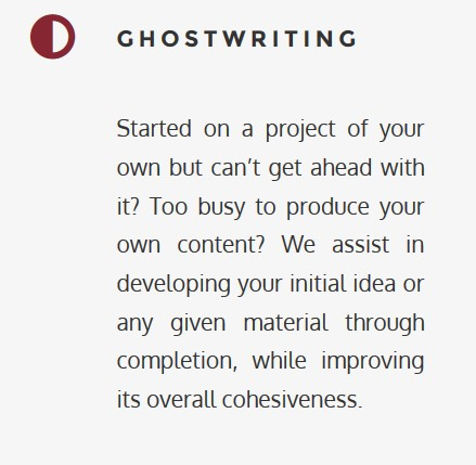 Ghostwriting services