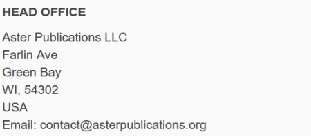 Another fake address from a predatory publisher.