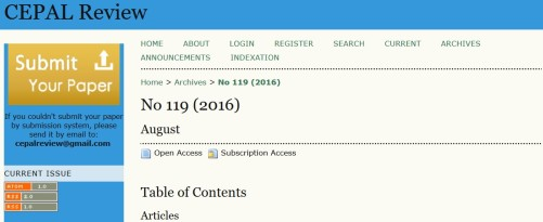 A screenshot of part of the hijacked journal's website.